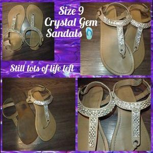 Rhinestone Sandals.